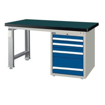 重量型工作桌,H800ⅹW1500ⅹD750,桌面材质:绿色耐冲击,桌板50mm厚平均承重1000KG