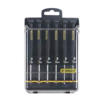 史丹利 6件一字、十字防静电微型螺丝批套,66-492-23