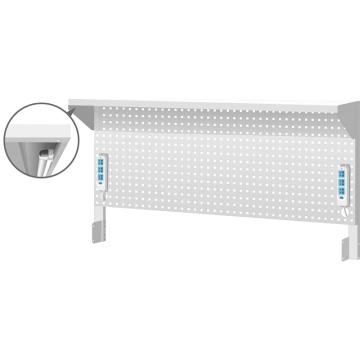 天钢 工作桌配件之上架组,H607ⅹW1500ⅹD348 挂板组 棚板组 插座组,WQ-156