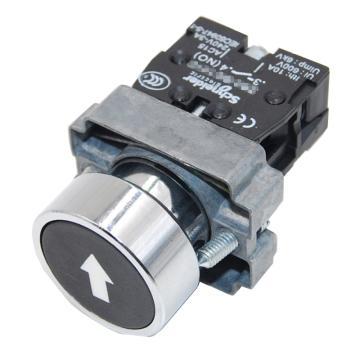 施耐德 金属带符号平头按钮,XB2BA3351C