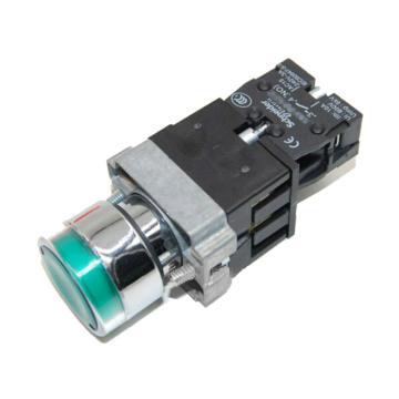 施耐德 XB2 带灯按钮(220VAC)(ZB2BWM31C+ZB2BW33C),XB2BW33M1C