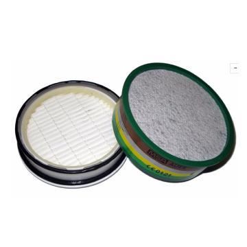 梅思安MSA 滤罐,10049637,A2 防多种有机气体,10片/包
