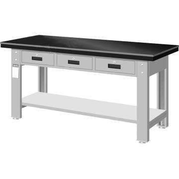 钳工桌板重量型工作桌,高H*宽W*深D:800*1800*750,平均荷重(kg):1000kg,WAT-6203A