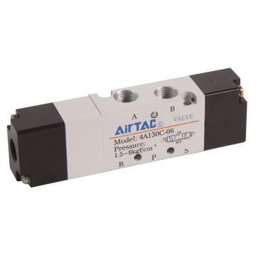 亚德客AirTAC 气控阀,3位5通双气控中压式,4A130P-M5
