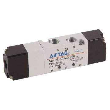 亚德客AirTAC 气控阀,3位5通双气控中封式,4A130C-M5