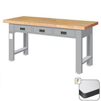 耐磨桌板重量型工作桌,高H*宽W*深D:800*1800*750,平均荷重(kg):1000kg,WAT-6203F