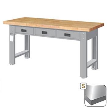 不锈钢桌板重量型工作桌,高H*宽W*深D:800*1800*750,平均荷重(kg):1000kg,WAT-6203S