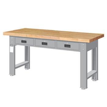 原木桌板重量型工作桌,高H*宽W*深D:800*1800*750,平均荷重(kg):1000kg,WAT-6203W