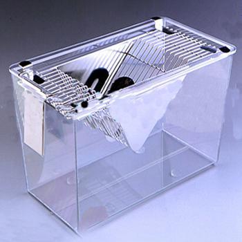 透明小鼠笼,PC塑料盒,304不锈钢网盖,305×170×148mm,1个