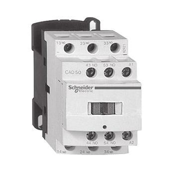 施耐德Schneider TeSys D系列控制继电器,24V,50/60Hz,5NO+0NC,CAD50B7C