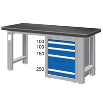 天钢 钳工桌板重量型工作桌,宽深高(mm):800*1500*750 承重(kg):1000,WAS-57042A 不含安装费