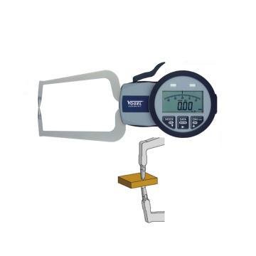 VOGEL 数显外卡规,0-40mm(IP63),E(双尖头)