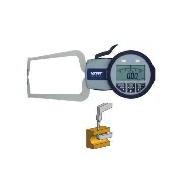VOGEL 数显外卡规,0-10mm(IP63),A(单尖头单球头)