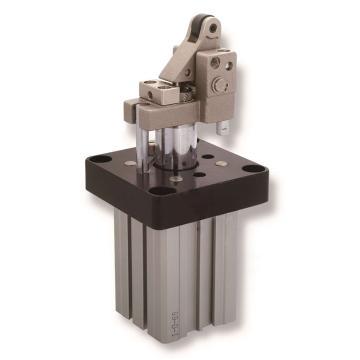 亚德客AirTAC 阻挡气缸,杠杆式滚轮型,可调油压缓冲器,TWH50X30-K