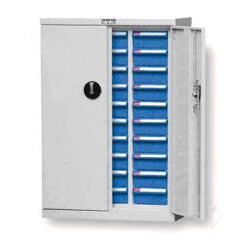 零件盒储存柜, H925×W640×D340  30个蓝盒 木箱包装
