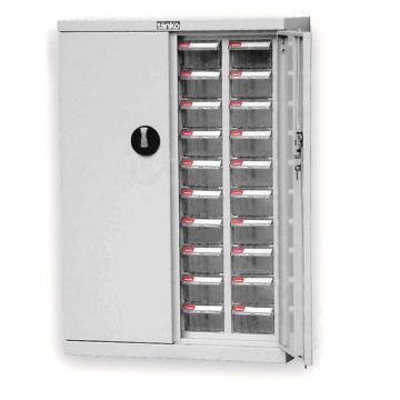 零件盒储存柜, H925×W640×D300  40个透明盒 木箱包装