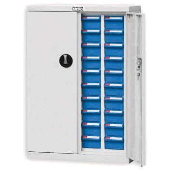 天钢 零件盒储存柜,H925×W640×D300mm,40个ABS耐油蓝盒,木箱包装