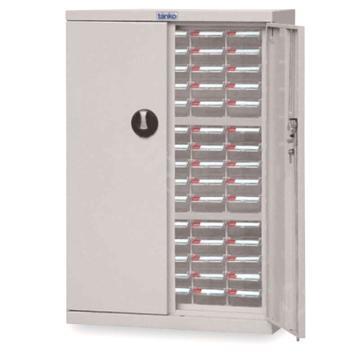 天钢 零件盒储存柜,H925×W620×D283mm,75个透明盒木箱包装
