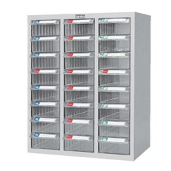 零件盒储存柜, H720×W600×D283  24个透明盒 木箱包装