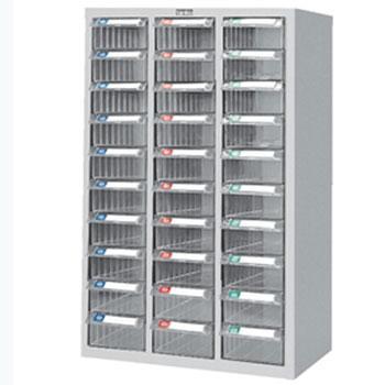 零件盒储存柜, H880×W600×D283  30个透明盒 木箱包装