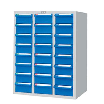 零件盒储存柜, H720×W600×D283  24个蓝盒 木箱包装