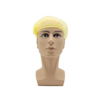 无纺布条形帽,黄色,20英寸,M码,100个/包