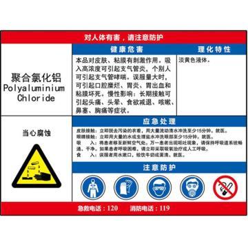 职业病危害告知卡(聚合氯化铝)-ABS板,600×450mm,14641