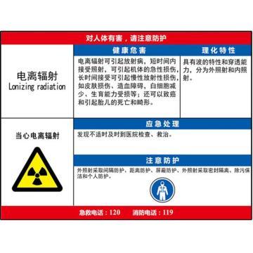 职业病危害告知卡(电离辐射)-ABS板,600×450mm,14591
