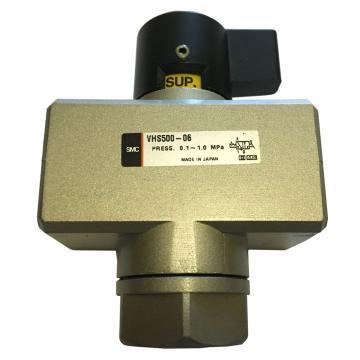 "SMC 残压释放3通手动阀,带锁孔左进气型,Rc3/4"",VHS500-06"