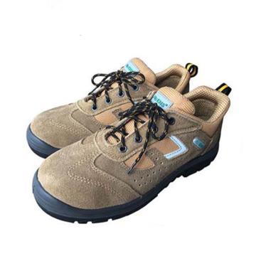 EHS低帮运动款安全鞋,保护足趾,绝缘,土黄色,35(售完即止)