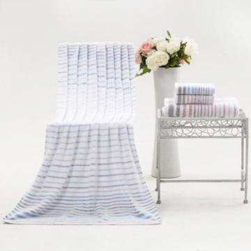 洁丽雅横条柔软浴巾 140*70cm 305g