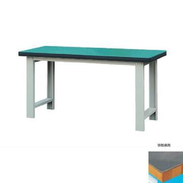 50mm铁板桌面重型工作桌, 2100W*750D*800H 载重:1000kg
