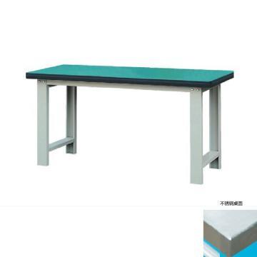 50mm不锈钢桌面重型工作桌, 2100W*750D*800H 载重:1000kg