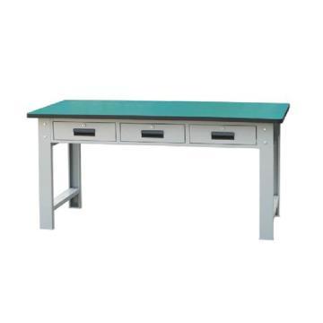 50mm复合桌面三抽重型工作桌, 1500W*750D*800H 载重:1000kg