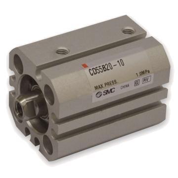 SMC 薄型气缸,单杆双作用,CD55B20-60