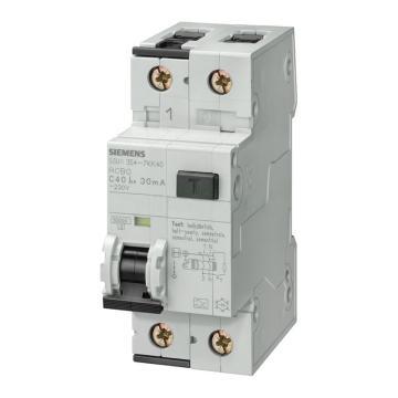 西门子 AC型带过电压保护微型漏电断路器,5SU9 AC 30mA 1P+N C20 6KA,5SU93561KN20