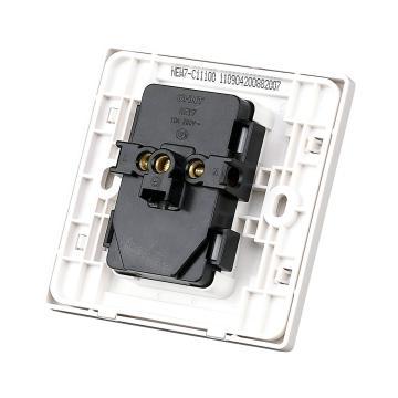 正泰 NEW7S系列一位两、三极插座10A,NEW7-S11100 白色(NEW7C升级为NEW7S)