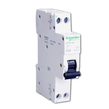 施耐德 微型漏电保护断路器,Acti9 iDPNa Vigi+ 4.5KA 6A,A9D91606