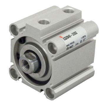 SMC CQ2双作用薄型气缸,两端螺孔式,带磁环,CDQ2A50-75DZ