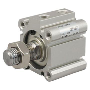 SMC薄型气缸,两端内螺纹安装,活塞杆外螺纹,CQ2A25-15DM