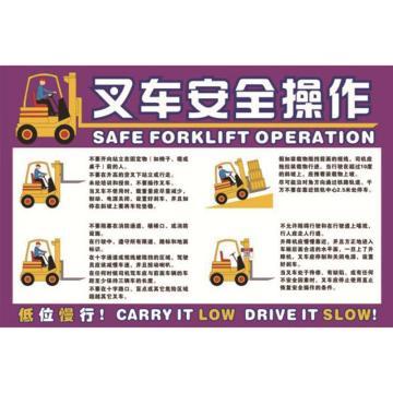 叉车安全操作,ABS工程塑料,75cm×50cm