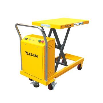 电动单剪式升降平台,额定载荷(kg):500,最高最低起升高度(mm):900/300