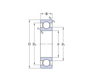 SKF深沟球轴承,绝缘轴承,6330 M/C3H VL2071