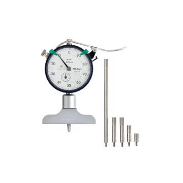 三丰 mitutoyo 指针式深度表,深度尺 0-10*0.01mm 带针型测头,7210,不含第三方检测