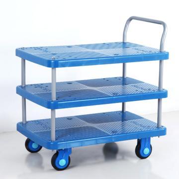 塑料板推车,单扶手,尺寸(mm)长宽高:825*500*915,载重(kg):250