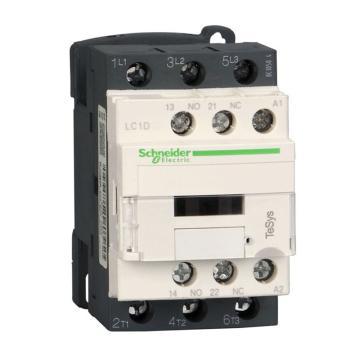 施耐德Schneider TeSys D系列三极接触器,25A,220VDC,LC1D25MD