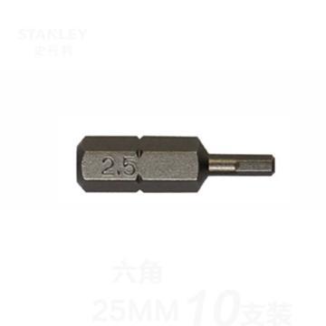 史丹利 6.3MM系列6角旋具头H2x25mm(x10),63-081T-23