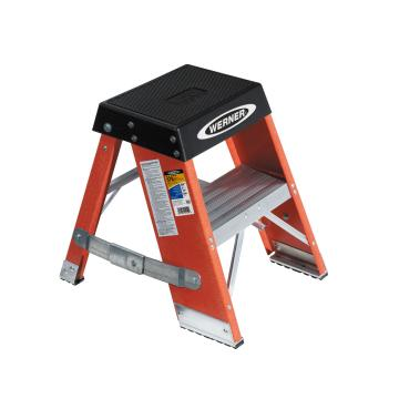 稳耐 玻璃钢梯凳,踏板数:2 额定载荷(KG):170 工作高度(米):0.51,SSF02CN