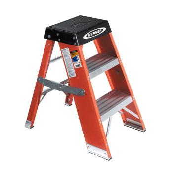 稳耐 玻璃钢梯凳,踏板数:2,额定载荷(KG):170,工作高度(米):0.76,SSF03CN