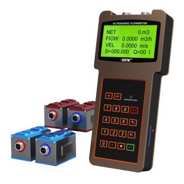道盛/T-SONIC TUF-2000HT超声波流量计,手持外夹式,标准小型外夹,TUF-2000HTS-2
